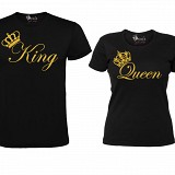 "Set Tricouri Negre ""King & Queen"" GOLD EDITION"