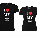 "Set Tricouri Negre ""I love my King/Queen"""