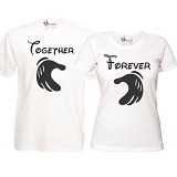 "Set Tricouri Albe ""Together Forever"""