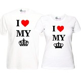 "Set Tricouri Albe ""I love my King/Queen"""